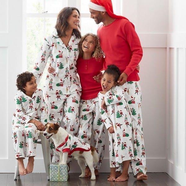 Santa Family Matching Pajamas Holiday Matching Family Pajamas