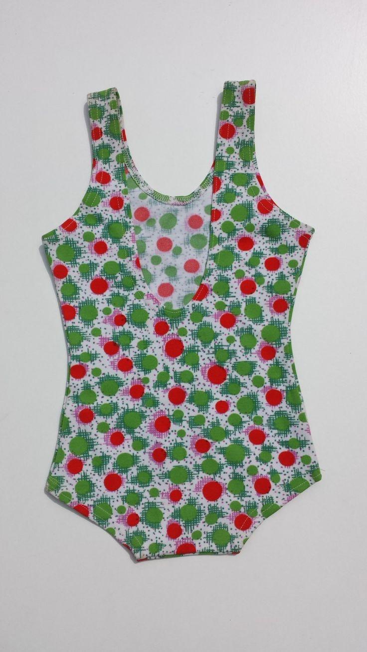 1950's meisjes badpakje antiek deadstock vrolijke polka dots dolfje dons nederlands merk oud merk Helanca  badmode kind zwemkleding vakantie door Smufje op Etsy