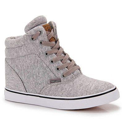 Tênis Sneaker Feminino Mary Jane California Heel - Cinza