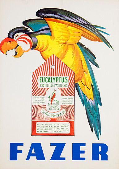 www.lahdenmuseot.fi  Aleksander Lindeberg: Fazer Eucalyptus, 1950-luku
