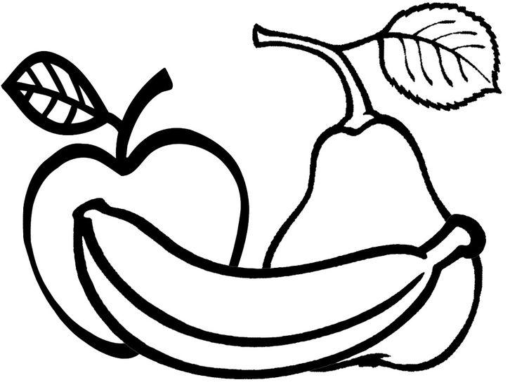 Dibujos De Frutas Y Verduras Para Colorear - AZ Dibujos para colorear