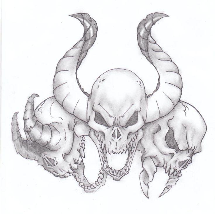 25+ Bästa Idéerna Om Evil Skull Tattoo På Pinterest
