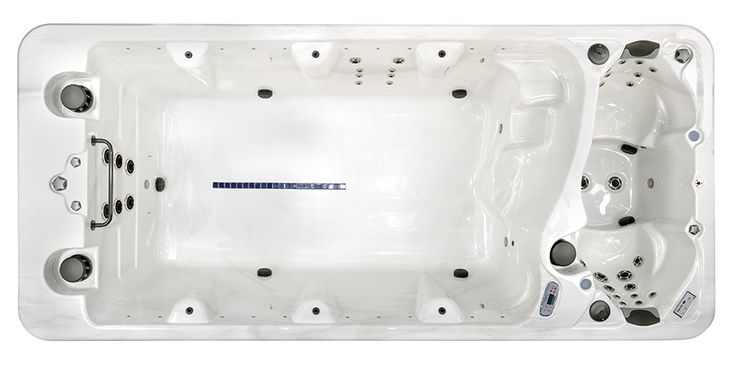 Enjoy the best of both worlds with the PowerPool™ SuperSport DT6; a combination swimspa and hot tub. Its two separate operating systems allow you to keep the swim zone at your desired exercise temperature while maintaining your hot tub at a higher temperature for hydrotherapy and stress relief.