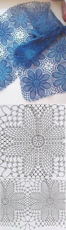 A céu aberto crochet lenço | Вязание крючком | Постила