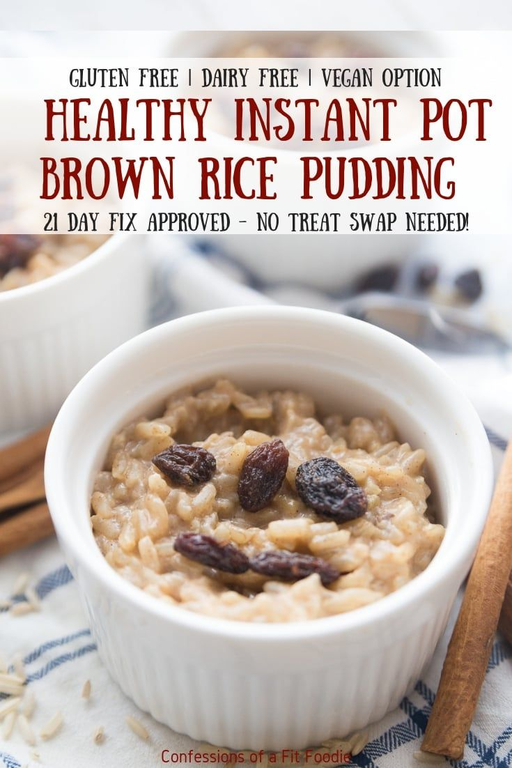 This healthy instant pot brown rice pudding recipe has all the flavors of the cr…