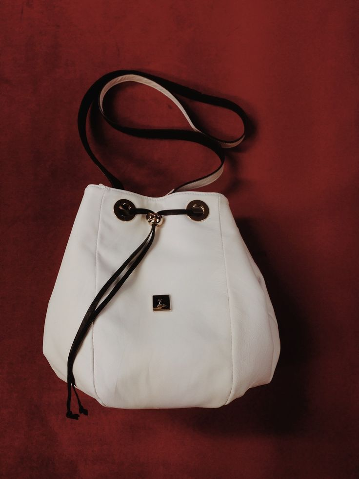 Z.Hound Purest White goatskin leather bag. Mii designed, new colour and materials.