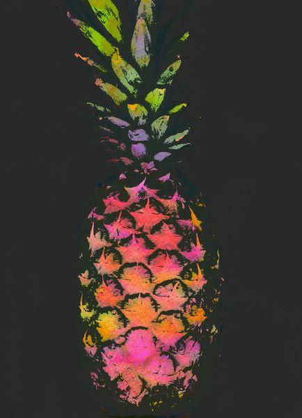 neon pineapple