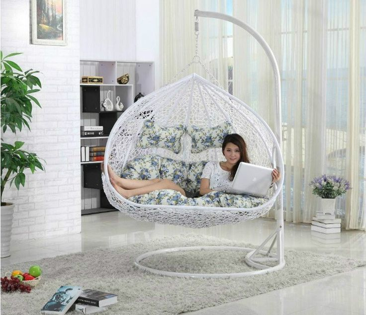 Outdoor teardrop swing chair two seat hanging papasan