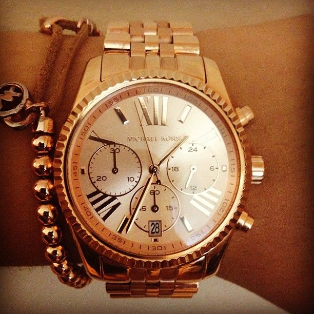 goldRoman Numerals, Watches Rose, Rose Gold Watches, Gold Diamonds, Studs Earrings, Fashion Jewelry, Michael Kors Watches, Michaelkors, Accessories Watches