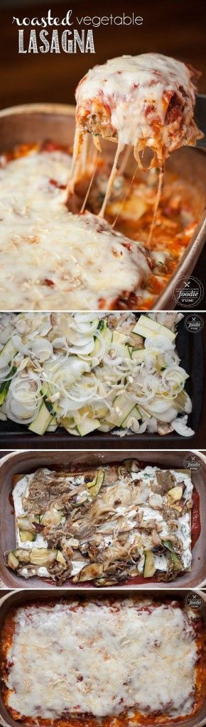If you're looking for a vegetarian option, this Roasted Vegetable Lasagna with eggplant and zucchini makes an incredibly rich and delicious dinner.