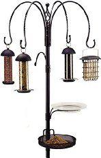 Gardman - Set de estación completa de alimentación para pájaros (4 comederos)                                                                                                                                                                                 Más
