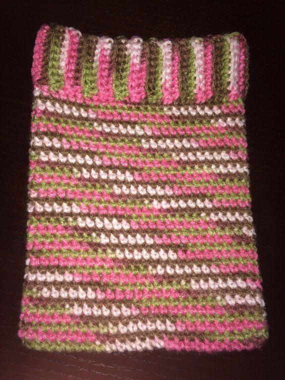 Crochet ipad cover, tablet cover, ipad cozy, tablet cozy, pink camo