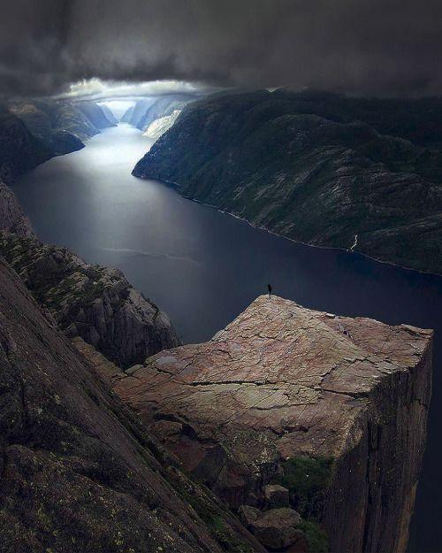 "enantiodromija: ""  The fjords of Norway, Preikestolen by Max Rive """