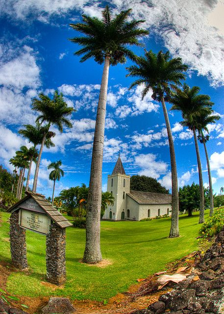 Wananalua Church - Hana, A church located in the famous town of Hana, known for the very, very winding road that leads to it!