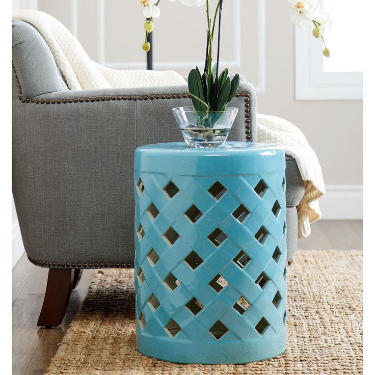 Another Great Find On Teal Blue Ceramic Ottoman Garden Stool By Abbyson  Living