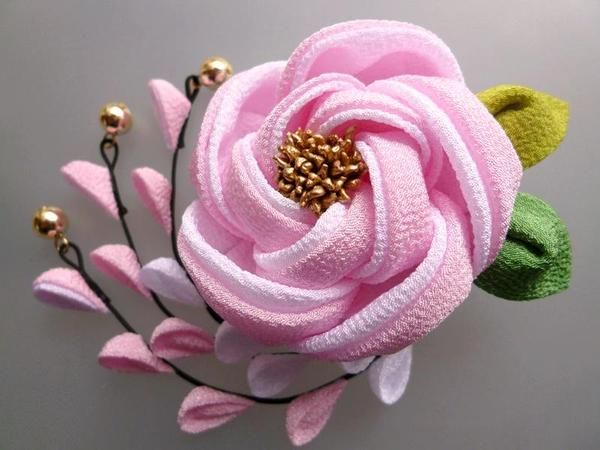 つまみ細工 - Поиск в Google flower kanzashi