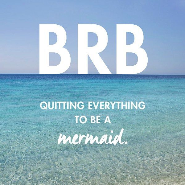 We're tide down at work. But YOU should get your tail to the beach! #swimspiration