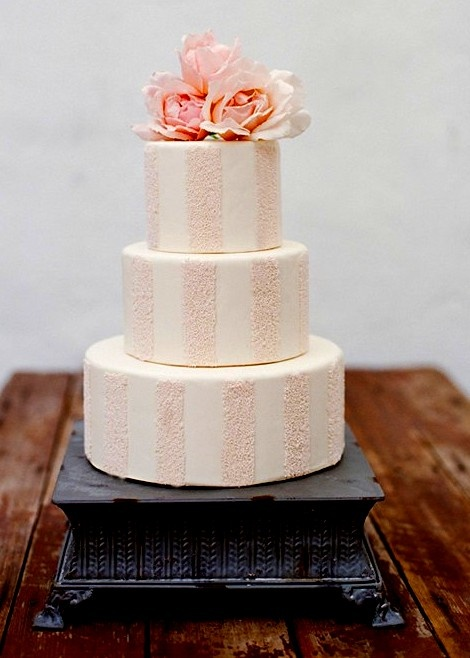 Peach Wedding Cake Pinterest