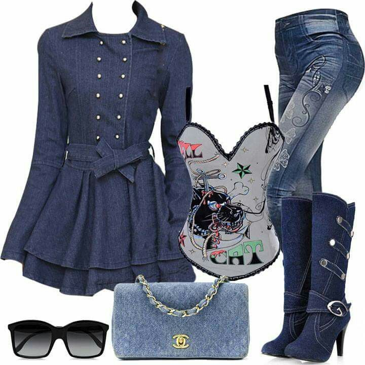 stunning denim corset outfit clothing