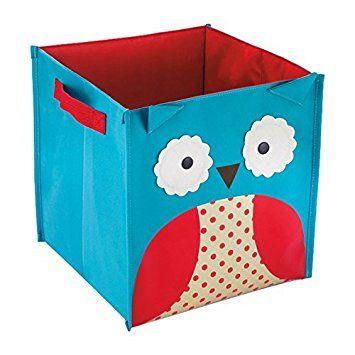 Cubo de almacenaje diseño búho