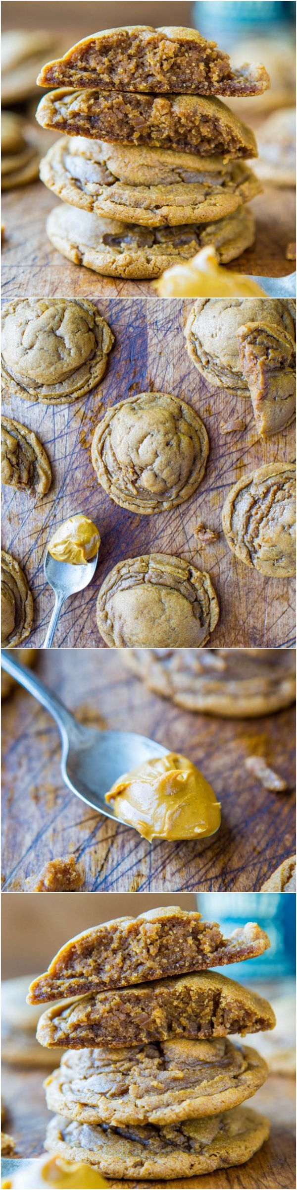 Softbatch Cookie Butter Brown Sugar Cookies - Bake with your Cookie Butter (or Biscoff) rather than just eating it by the spoonful! NO BUTTER used in these super soft cookies!
