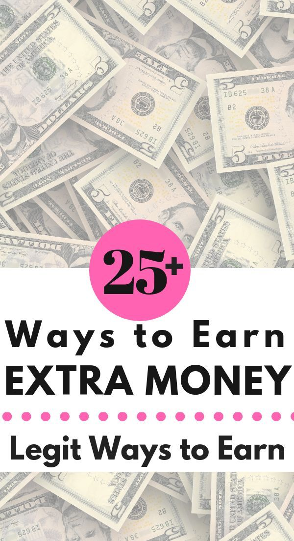 25+ Ways to Earn Extra Money. I'm a stay at home mom, and I've always wanted to bring in extra money, but I didn't know how. Now, I do! I've put together a great resource of legitimate ways to earn extra money. So many ideas! You'll find one that works for you! #makemoney #makeextraincome #extramoney #sidehustles
