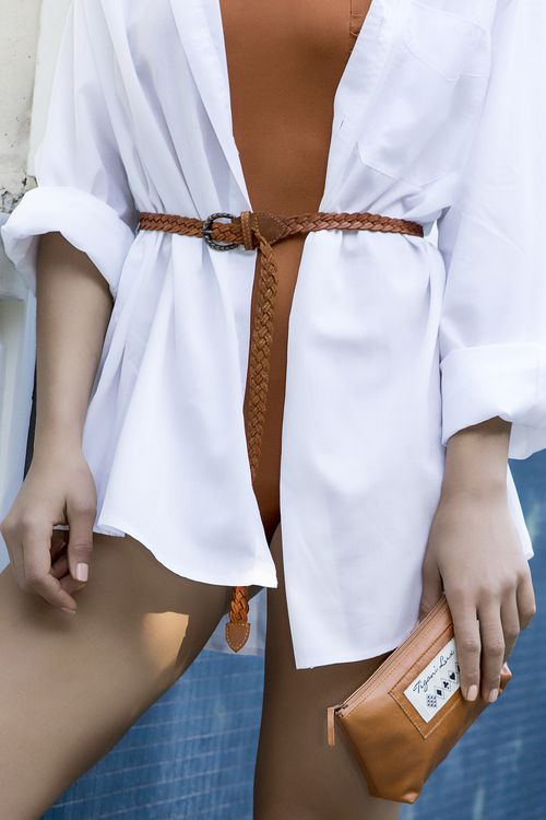 Plaited Weave Belt