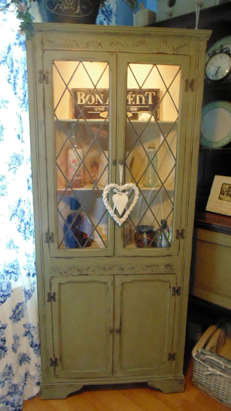 Corner Kitchen Hutch Furniture 17 Best Images About Annie Sloan Furniture Ideas On Pinterest