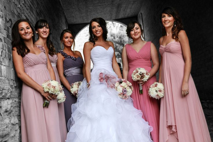 Love the colours Bride A chose for her bridesmaid's dresses!