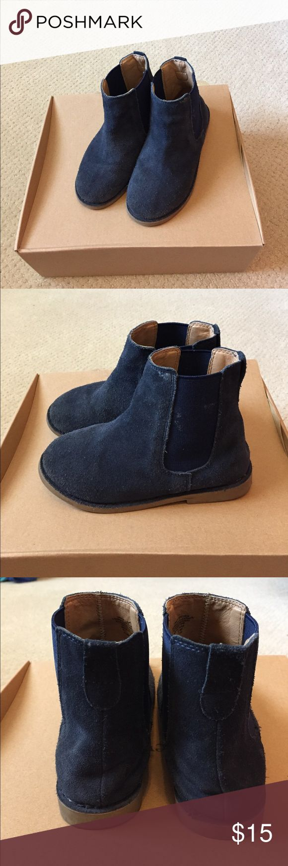 J Crew Boots Girls suede boots. Slip on. Rubber sole. J. Crew Shoes Boots