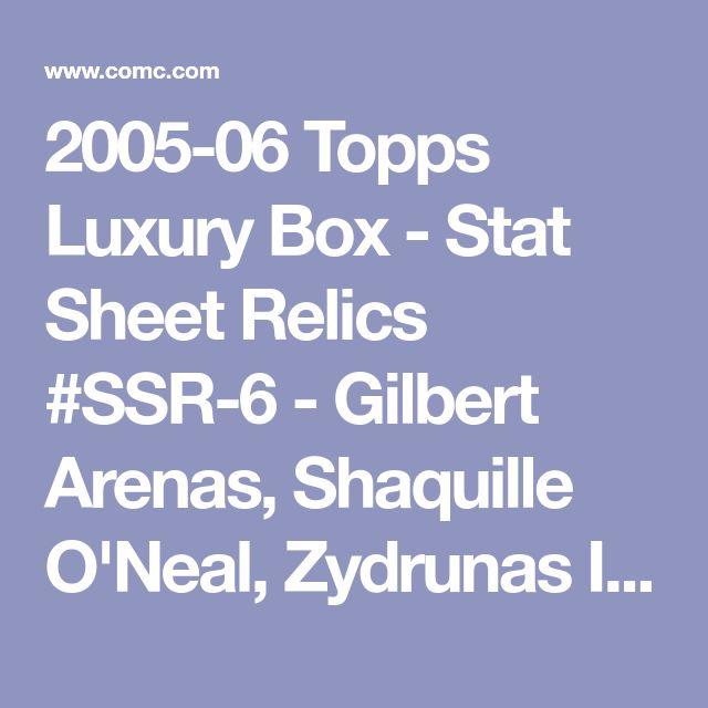 2005-06 Topps Luxury Box - Stat Sheet Relics #SSR-6 - Gilbert Arenas, Shaquille O'Neal, Zydrunas Ilgauskas, Tracy McGrady, Joe Johnson, Paul Pierce, Andre Miller /140 - COMC Card Marketplace
