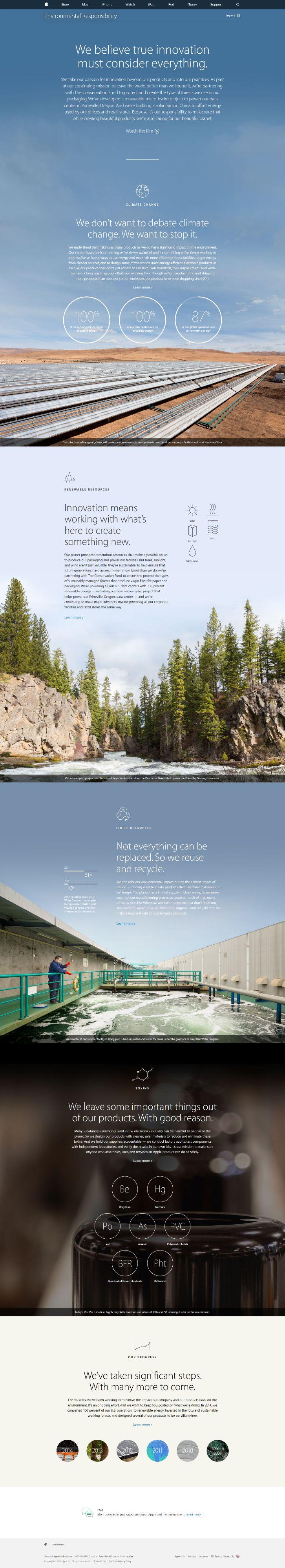 Apple's CSR website