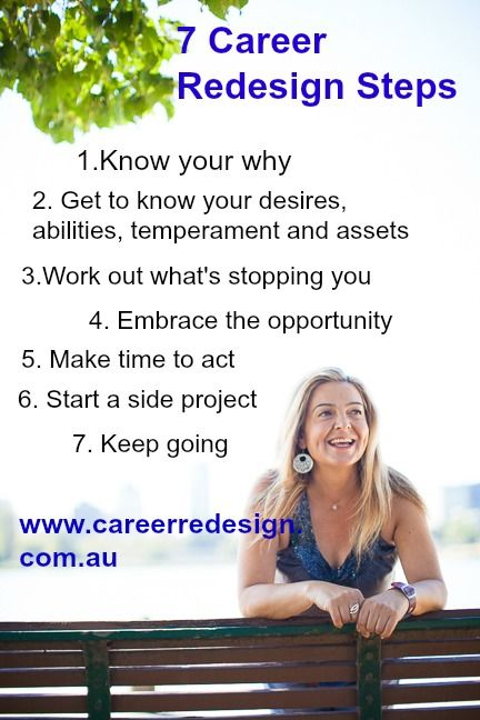 The seven steps to the career redesign method