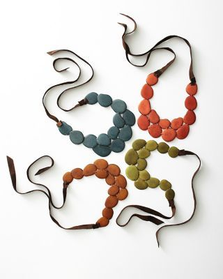 The Andean Collection Accented Tagua Bib Necklace - Garnet Hill