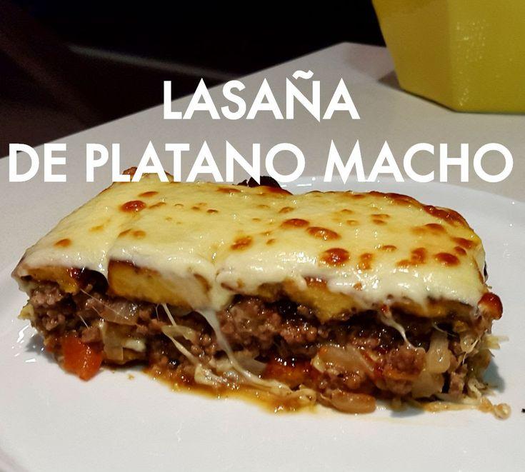 Lasaña de plátano macho   LASAGNA   lasaña de plátano maduro   Banana lasagna / PASTELON - YouTube