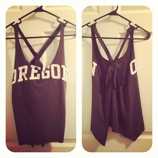 DIY old college tshirt tank top!  Super quick and easy