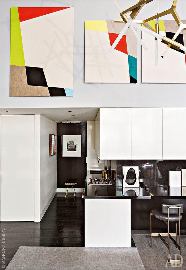 Двухэтажная квартира в Нью-Йорке, 80 м²