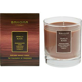 Vanilla Black Scented Candle