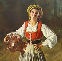 Henrique Medina - Girl from Galiza, 1942. José Malhoa, museum , Caldas da Rainha, Portugal.Wikipedia, the free encyclopedia