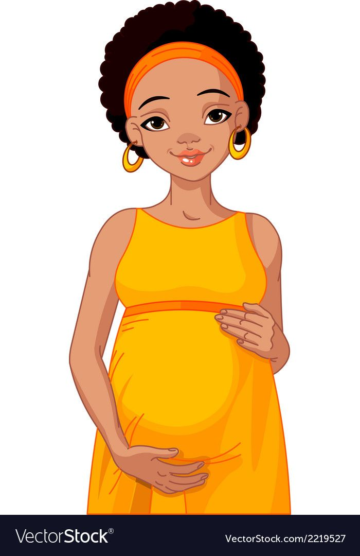 African Pregnant Woman In Pink Pregnant Dress Is Prepared For Maternity Download A Free Preview Or High Quality Adobe Illu Pregnant Women Black Baby Art Women