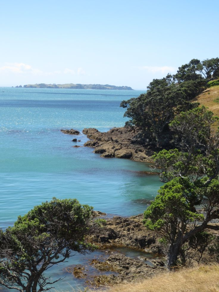 Views from the sculpture walk around Matiatia Bay