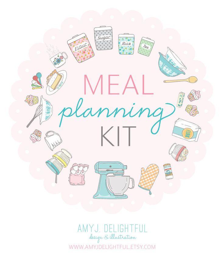 Meal Planning Kit  Digital File Instant Download by amyjdelightful, $10.00