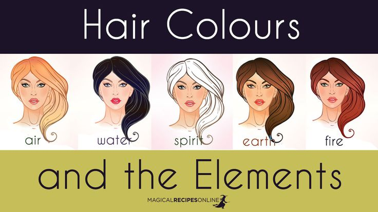 Magical Recipies Online | Hair Colour and the Elements