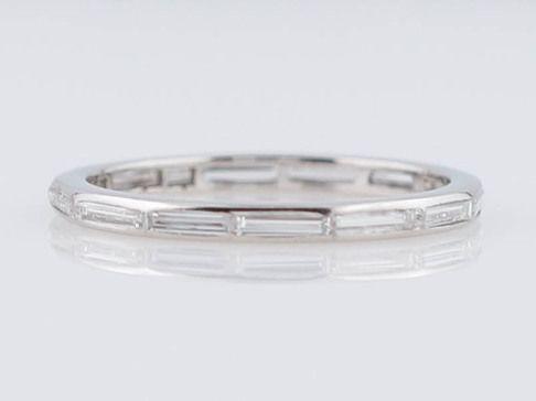 Filigree Jewelers :: Original Antique Art Deco 1.26cttw Baguette Cut Diamond Wedding Band in Platinum