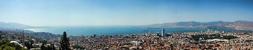 Izmir panorama from Kadifekale by Kusadasi-Guy, via Flickr