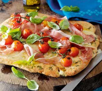 Geurige basilicumpizza met ham - Recept - Jumbo Supermarkten