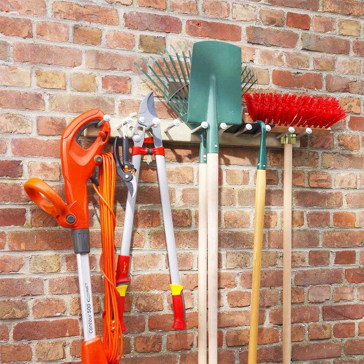 Porte-outils jardin bois - Rangement outils
