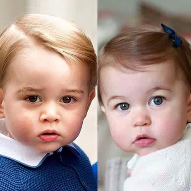 Cute...... Future King ......GEORGE AND SISSY, CHARLOTTE..........KATE & WILLIAM'S PRIDE AND JOY.............ccp
