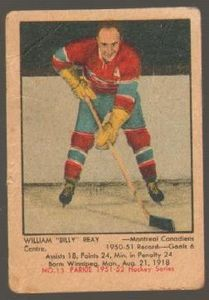 #13 Billy Reay (1951-1952) - Parkhurst Products Ice Hockey card. New on http://colnect.com/sports_cards
