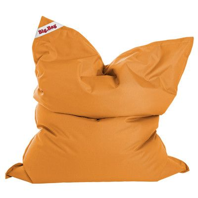 Big Bag Brava Bean Bag Chair Upholstery: Orange - http://delanico.com/bean-bag-chairs/big-bag-brava-bean-bag-chair-upholstery-orange-641177714/